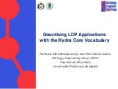 Describing LDP Applications with the Hydra Core Vocabulary