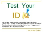Test Your Instructional Design IQ