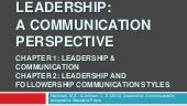 Leadership: A communication perspective (Part I)