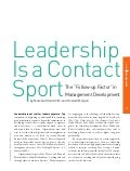 Leadership contact sport