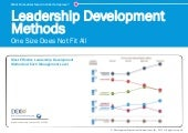 Leadership Development Methods: One Size Does Not Fit All