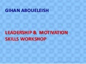 Leadership & motivation workshop