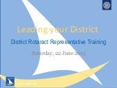 Leading Your District: District Rot...