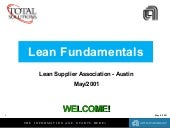 Lean  Fundamentals And  Line  Desig...