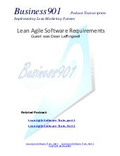 Lean Agile Enterprise Requirements