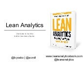 Lean analytics: Five lessons beyond the basics