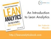 Introduction to Lean Analytics for Lean Startup Circle SF