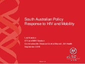 South Australian Policy Response to HIV and Mobility