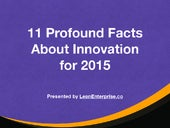 10 Profound Facts on Innovation for 2015
