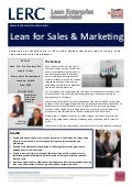 Lean for Sales Marketing