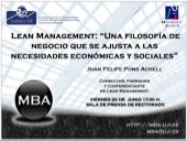 Lean Management_MBA CONFERENCIA