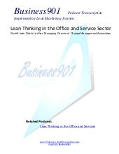 Lean Office & Services