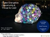 Digital Disruption – Opportunity and Threat for L&D. LearningCafe Online Discussion