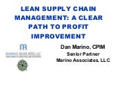 Lean Supply Chain Clear Path.      ...