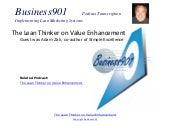 Lean Thinker on Value Enhancement e...