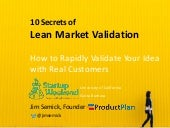 Lean Validation: 10 Ways to Quickly Test Your Startup Idea