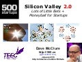 Silicon Valley 2.0: Lots of Little Bets