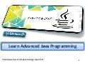Learn advanced java programming