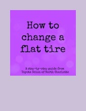 Learn how to change a flat tire!