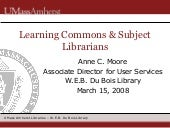 Learning Commons & Subject Libraria...