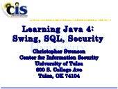 Learning Java 4 – Swing, SQL, and S...