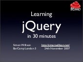 Learning jquery-in-30-minutes-11959...