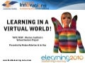 Learning in a virtual world!