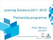 Learning solutions   tekes partners...