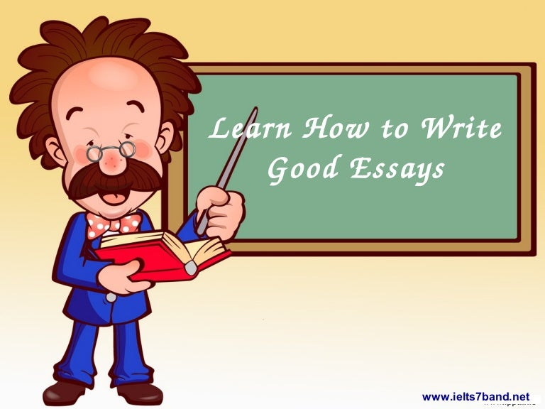 Learn to write essays