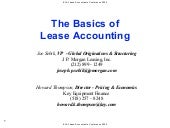 The Basic Of Lease Accounting
