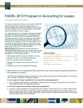 FASB's 2013 Proposal on Accounting ...