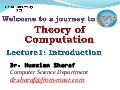Theory of computation Lec1