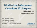 Enforcement & Training  Committee Report 2011