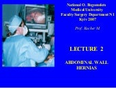 Bohomolets Surgery 4th year Lecture #2