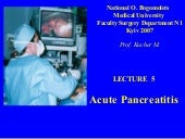 Bohomolets Surgery 4th year Lecture #4