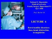 Bohomolets Surgery 4th year Lecture #6