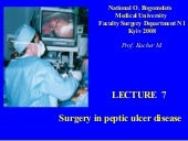 Bohomolets Surgery 4th year Lecture #7