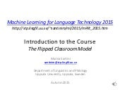 Lecture 1: Introduction to the Course (Practical Information)