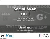 Lecture 1: Social Web Introduction ...
