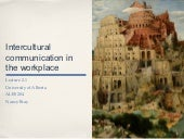 Lecture 2.1    intercultural communication in the workplace student notes