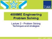 Lecture 2 problem solving strategies