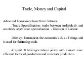 trade money and capital