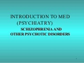 Lecture 4 Schizophrenia Disorders