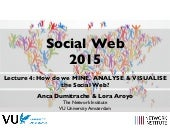 Lecture 4: How do we MINE, ANALYSE & VISUALISE the Social Web? (VU Amsterdam Social Web Course)