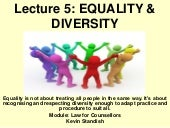 Lecture 5 equality and diversity the equality act 2010