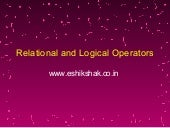Lecture 7 relational_and_logical_op...