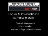 Lecture 8 narrative therapy