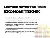 Lecture notes tks 1606   engineerin...