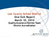 Lee co oral exit report
