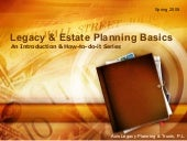 Legacy & Estate Planning Basics